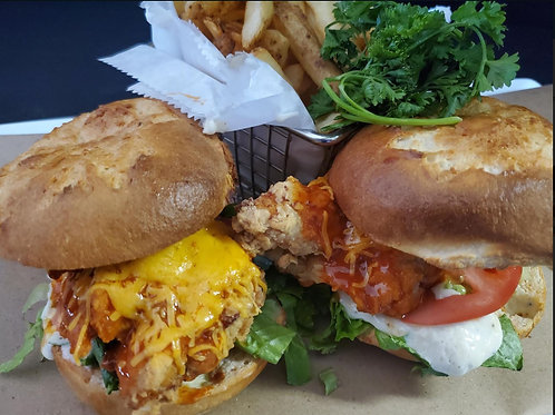 GF TOASTED BUFFALO CHICKEN SLIDERS
