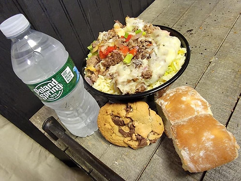 SPECIAL OF THE WEEK 3 - STEAK & CHEESE RICE BOWL