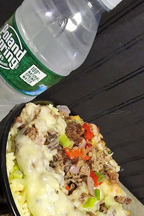 SPECIAL OF THE WEEK # 4-KETO FRIENDLY STEAK & CHEESE RICE BOWL