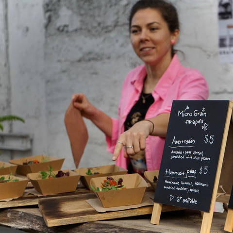 Natalia in the Community Open Kitchen