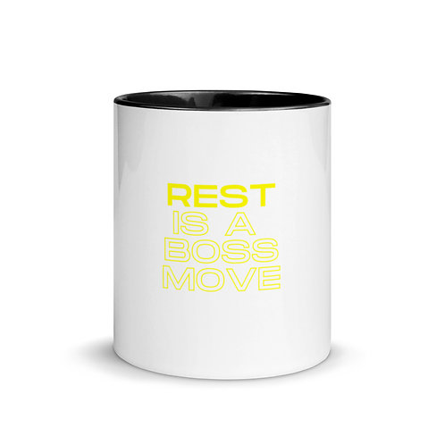 Rest is a Boss Move Mug with Color Inside