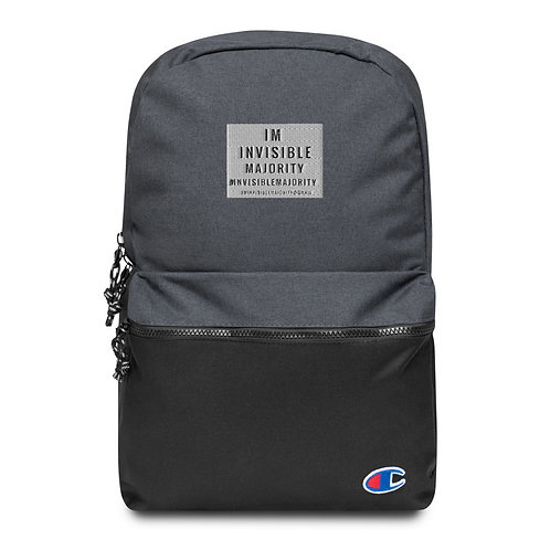 Invisible Majority Embroidered Champion Backpack