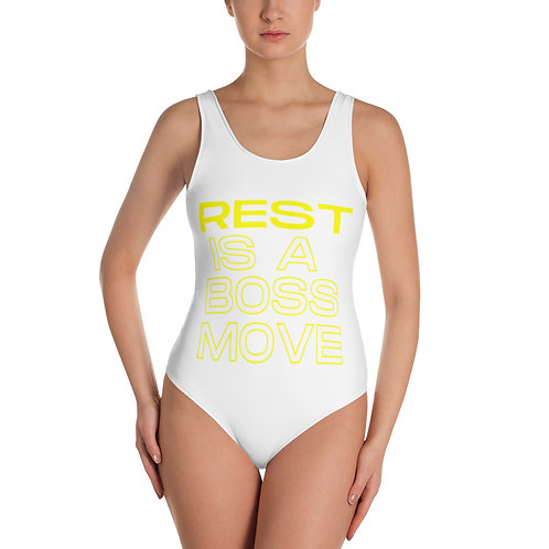 Rest is a Boss Move One-Piece Swimsuit