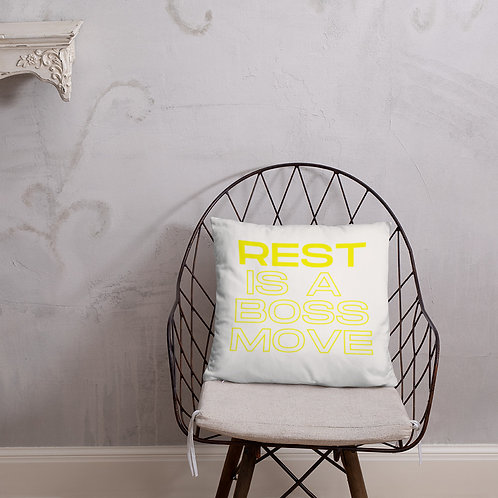 Rest is a Boss Move Basic Pillow