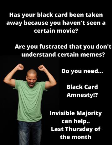 Has your black card been taken away beca