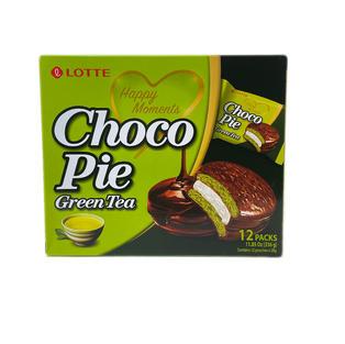 Lotte Chocoo Pie-Green Tea (12 packs-336g)
