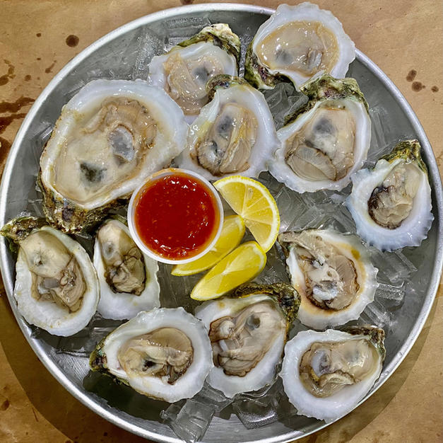 Raw Oyster on Half Shell