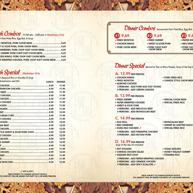 imperail garden menu-lunch and dinner co