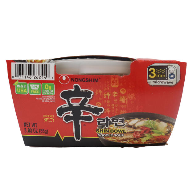 Nongshim Shin Cup Noodle Soup (86g) 农心辛字