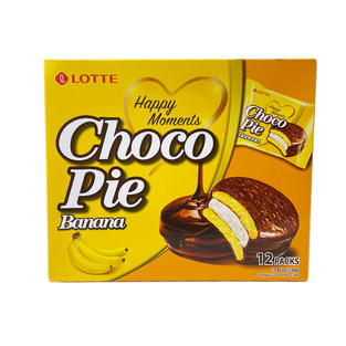 Lotte Choco Pie Banana (12 packs-336g)