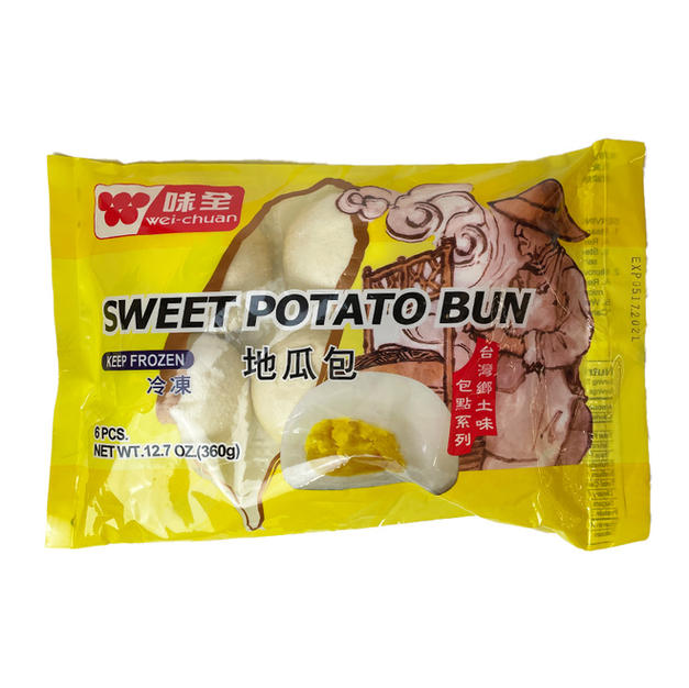 Wei Chuan Sweet Potato Bun (360g) 味全地瓜包.