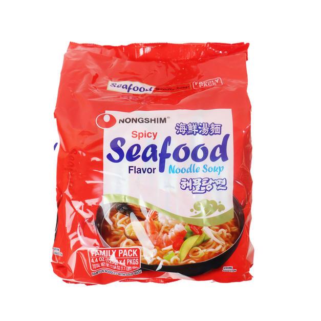 Nongshim Spicy Seafood Noodle Soup 4PK (