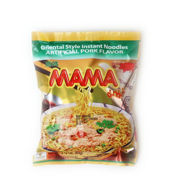 Mama Instant Noodle Artificial Pork Flavor