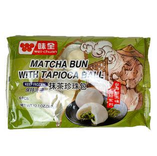 Wei Chuan Matcha Bun with Tapioca Ball (6 pcs)