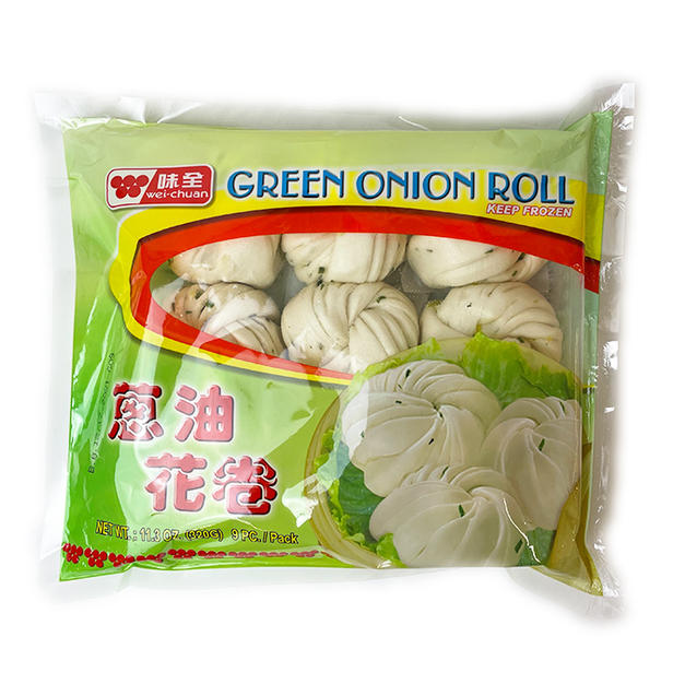 Wei Chuan Green Onion Roll (320g) 味全葱油花卷