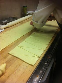 Croissants production