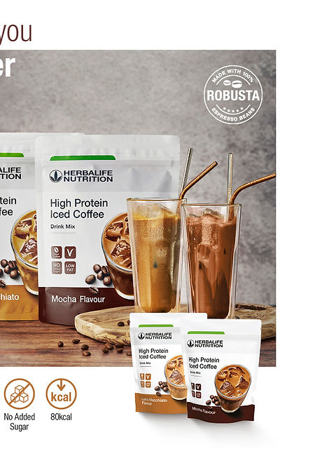 High Protein Iced Coffee Instagram Post