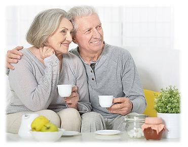 senior couple drinking Tego Tea