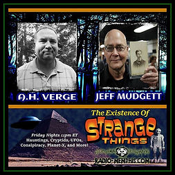 Radio-Memphis, The Existence of Strange Things Poster featuring A.H. Verge and Jeff Mudgett
