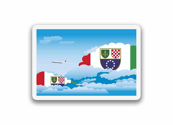 Bosnia and Herzegovina Flags Day Clouds Sticker
