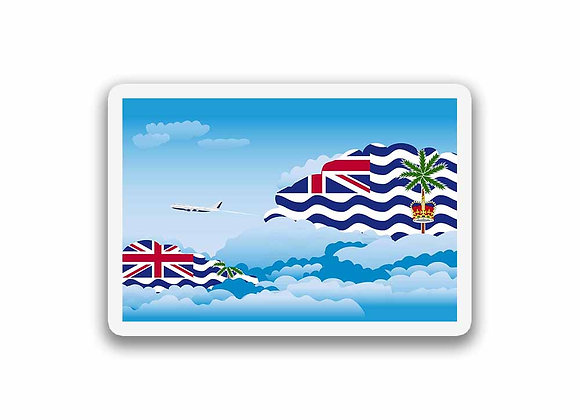 British Indian Ocean Territory Flags Day Clouds Sticker