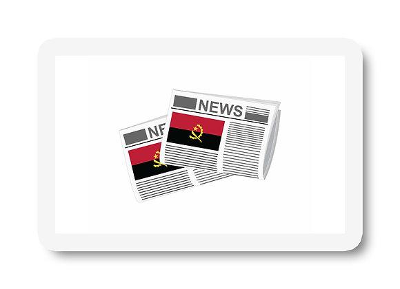 Angola Newspapers Sticker