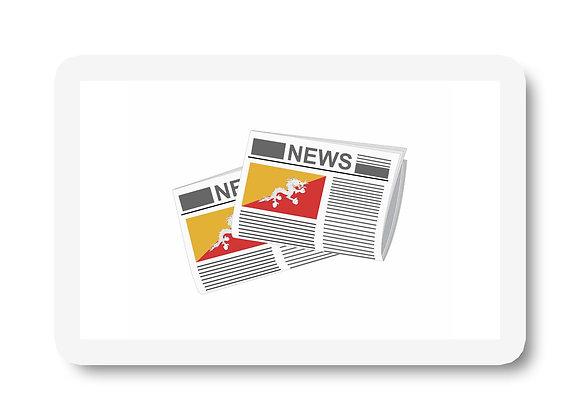 Bhutan Newspapers Sticker