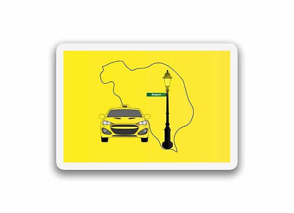 Belgium Taxi Sticker