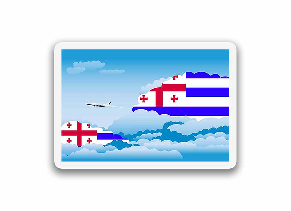 Ajaria Flags Day Clouds Sticker
