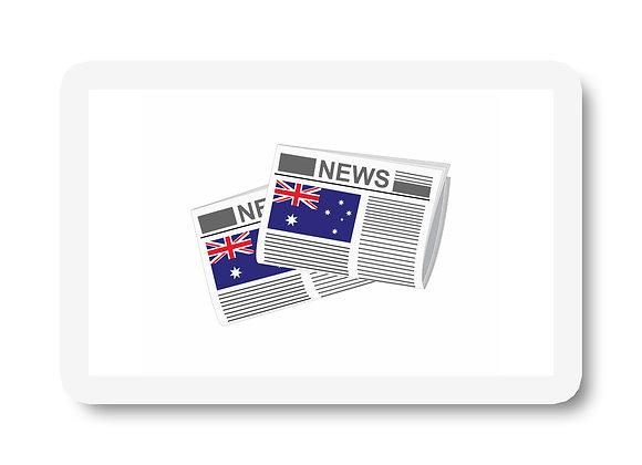 Australia Newspapers Sticker