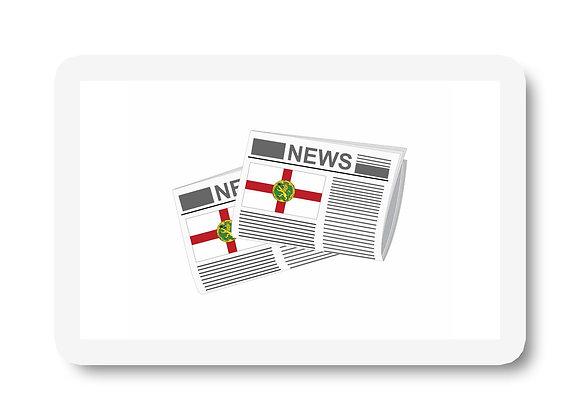 Alderney Newspapers Sticker