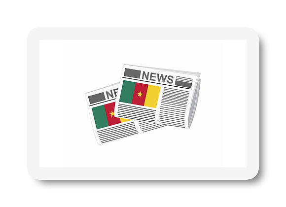 Cameroon Newspapers Sticker