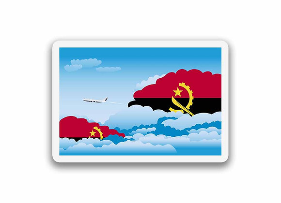 Angola Flags Day Clouds Sticker