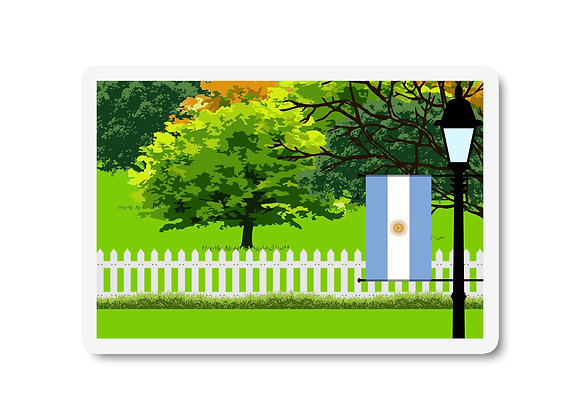 Argentina Flag Trees and Street Lamp Sticker