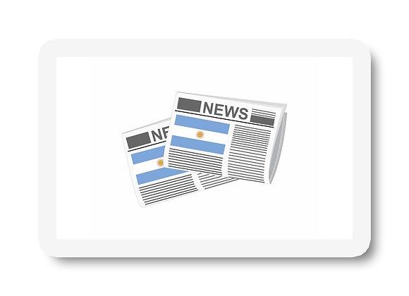 Argentina Newspapers Sticker