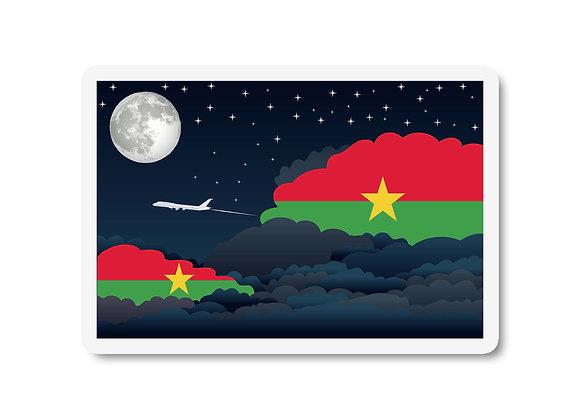 Burkina Faso Flags Night Clouds Sticker