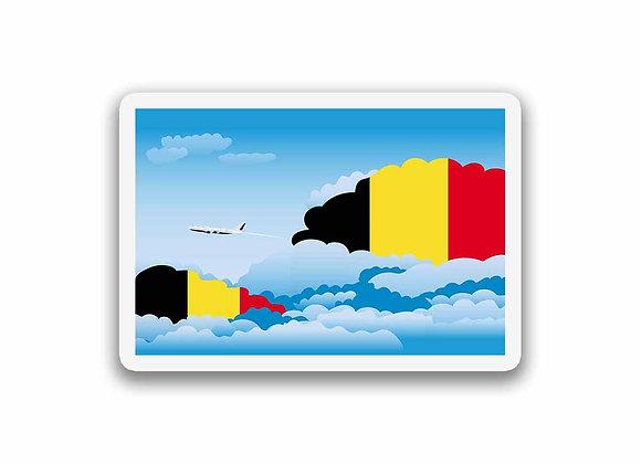 Belgium Flags Day Clouds Sticker