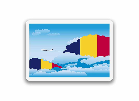 Chad Flags Day Clouds Sticker