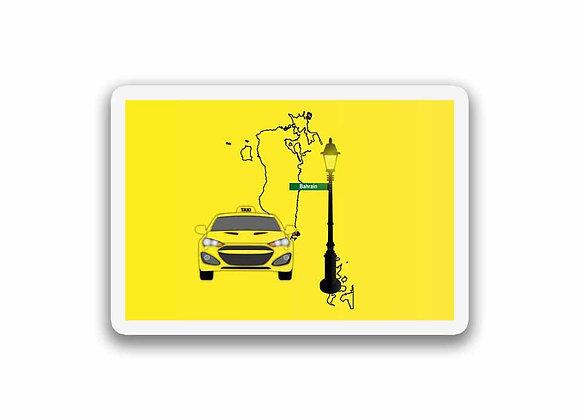 Bahrain Taxi Sticker