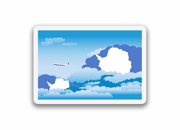 Antarctica Flags Day Clouds Sticker