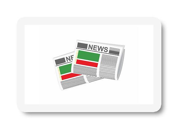 Chechen Republic Newspapers Sticker