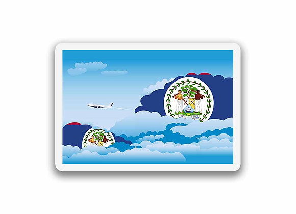Belize Flags Day Clouds Sticker