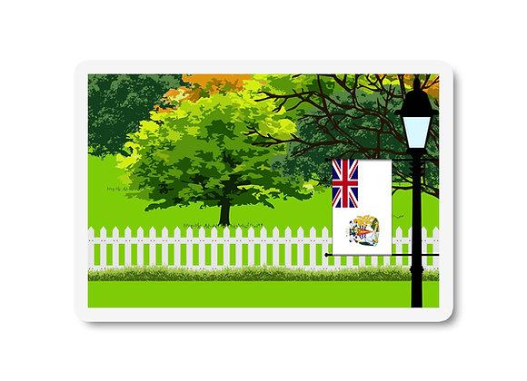 British Antarctic Territory Flag Trees and Street Lamp Sticker