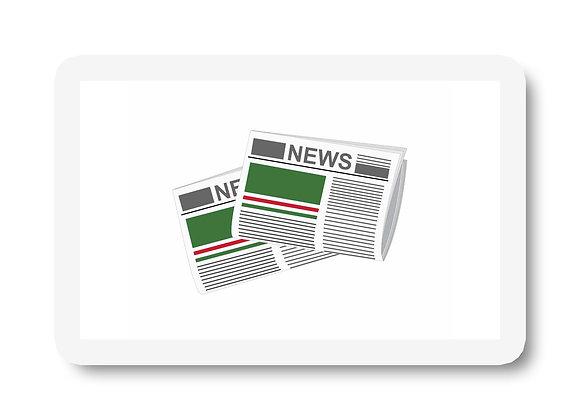 Chechen Republic of lchkeria Newspapers Sticker