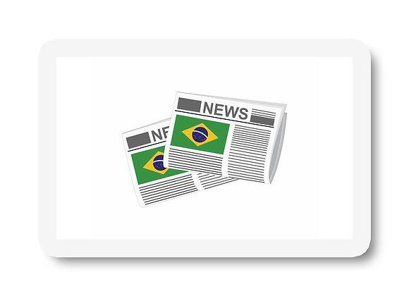 Brazil Newspapers Sticker
