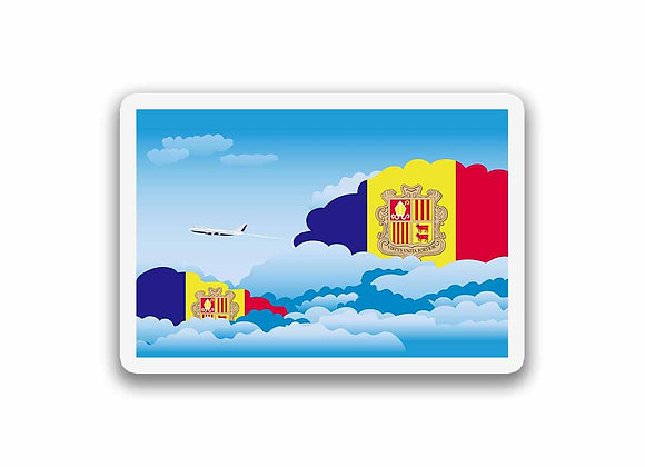 Andorra Flags Day Clouds Sticker