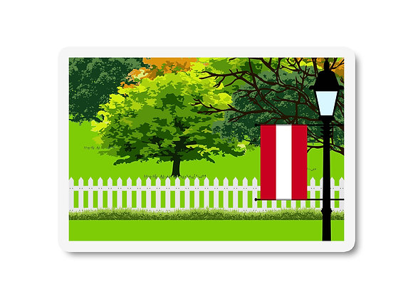 Austria Flag Trees and Street Lamp Sticker