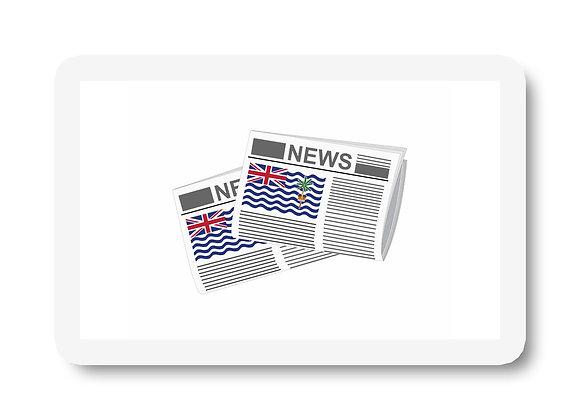 British Indian Ocean Territory Newspapers Sticker