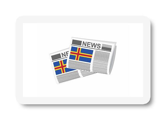 Aland Newspapers Sticker