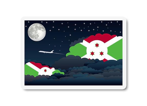 Burundi Flags Night Clouds Sticker